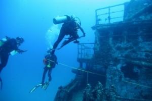 Nardymo nuskendusiuose objektuose kursas (Wreck diver)